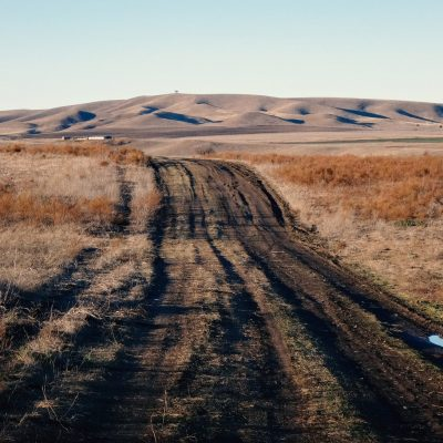 Gruzijos gamtoje: kelias per Vašlovani rudens pievas su banguotomis kalvomis tolumoje