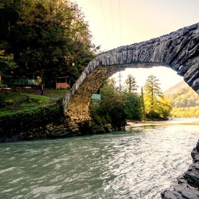 Georgia in 7 days: an ancient stone bridge over the river in Makhuntseti